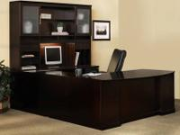 The Sorrento veneer desking system is a transitional