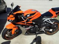 For sale a garage kept 2008 honda cbr 600rr. very clean