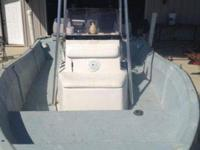 Middle console 17' fishing boat with 115 HORSEPOWER