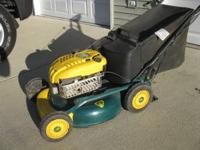 Mower was only used 6 - 8 times, in excellent