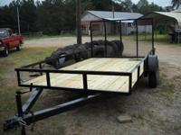 6.5 x 12 Utility Trailer 3500lb Dexter axle with e -z