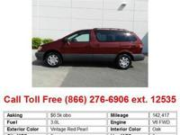 2002 Toyota Sienna Vintage Red Pearl LE 4dr Passenger