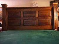 custom one of a kind black walnut king size bed without