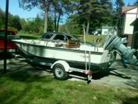 1984 Boston Whaler Montauk. Currently equipped with a