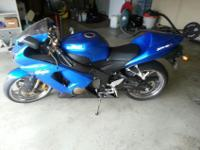 Plasma Blue ZX6R with chrome wheels. It has low mileage