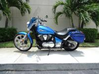 This is a gorgeous 2010 Kawasaki Vulcan 900 Custom .