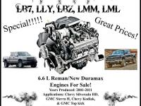 One-Year Unlimited Mileage Warranty! 6.6L Duramax LB7