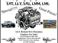 One-Year Unlimited Mileage Warranty! 6.6L Duramax LB7