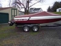 1986 CHECKMATE 20 ft WITH TRAILER . HAS A 350 CHEVY