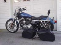 2005 HARLEY DAVIDSON XL 1200 CUSTOM WITH 17,240 MILES,