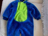 THIS IS A CUTE 1-PIECE BLUE MONSTER COSTUME SIZE INFANT