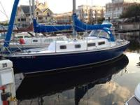 Classic S&S design racer/cruiser sailboat. This is a