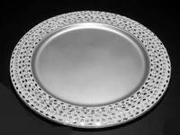 #CP-005 Wedding Charger Plate With Cut Mirror &