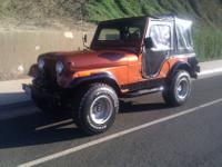 1982 Jeep CJ 5 with the 2.4 Iron Duke 4 cylinder engine