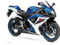 2007 SUZUKI GSX-R600, Two-tone Blue / White, it started