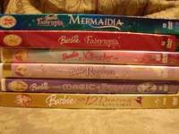 I have 6 Barbie DVD's in the original cases. Mermaidia,