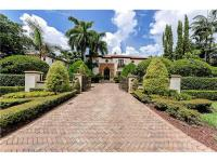 Waterfront Tuscan style Estate w/ impressive entrance &