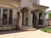 Brand new. 6 bedrooms & 8.5 baths, and a guest house