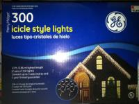 I have 6 boxes of Icicle Style Xmas Lights, clear in