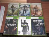 I have 6 call of duty game for sale  call of duty 4 -