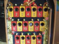 THIS IS A PLAYFIELD FROM AN OLD 6 CARD BINGO GAME, I