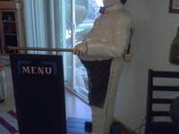 6' Chef / Baker Statue with menu board. Perfect