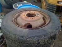 "I have a full set of 6 wheels 16.5"" off a chevy dually."