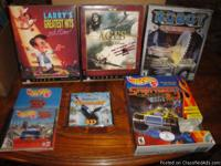 I am selling 6 computer games. All of the games are in