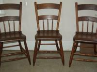 6 Dining Kitchen Chairs Solid Wood 5 are used but in