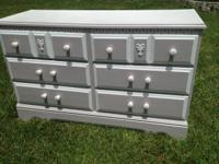 I HAVE A 6 DRAWER DRESSER FOR SALE THAT I HAVE REDONE.