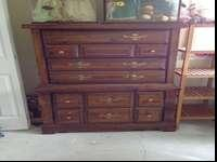 Nice sturdy dresser. Drawers all work well in good