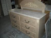Dresser with six drawers and faux marble top comes with
