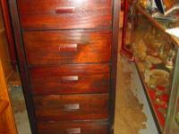 6-DRAWER DARK WOOD CHEST OF DRAWERS- $165  LOTS OF