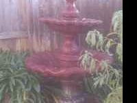 6 foot Fountain w/ pump $250 firm. Serious buyers only.