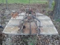 6'ft box scrape & bush hog for sale, in good condition.