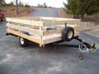 nice trailer 2 ft. pressure treaded sides take a 1 7/8""