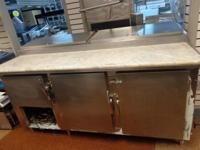 FOR SALE - 6 FT PIZZA TABLE ... VISIT OUR WEBSITE FOR