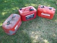 I have 3-6 gallon boat motor tanks, There's 2 Johnson