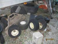 6 golf cart wheels and tires Decent condition