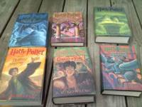 6 harry potter books. hardback. good