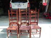 6 Ladder Back Chairs David  Put my Phone Number