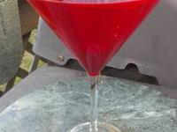 I have 6 large martini glasses for sale. I have 5 ruby