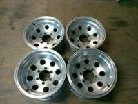"15"" 6 lug pattern front wheels are 8"" large and the"