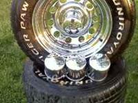 4 six lug pacer rims they are chrome and in good shape