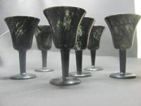 (6) Luminous Jade Wine Glasses Jiuquan Moonlight Cups.