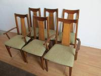 Nice Set of 6 mid century contemporary walnut Dining