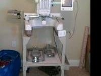 6 needle Babylock embroidery pro with stand and lots of