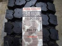 4 New Firestone T546 PSD Steel Belted Drive Axle Radial