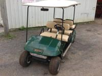 Six guest electrical golf cart for lease or sale.