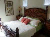 Beautiful 6 PC Bahama Style Bedroom, includes king bed